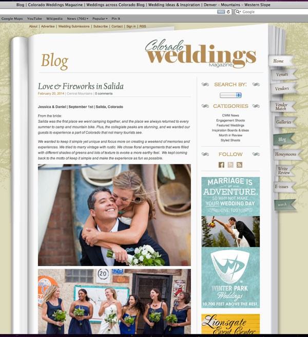 Colorado Weddings Mag